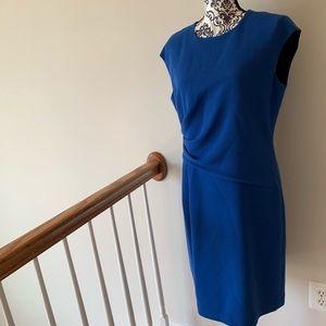 Lafayette 148 Sleeveless Wool Royal Blue Dress 8